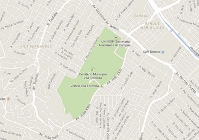mapa cemiterio vila formosa