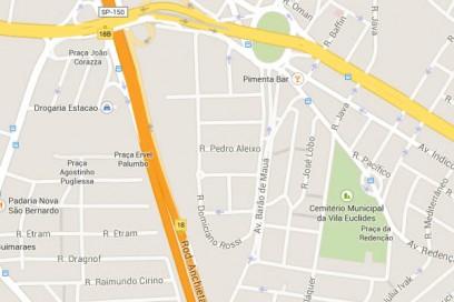 mapa cemiterio vila euclides