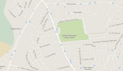 mapa cemiterio campo grande