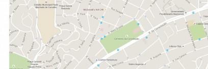 mapa cemiterio consolação